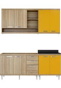 Cozinha Compacta Multimóveis Sicília 5818.132.695.610 Argila Amarelo Se