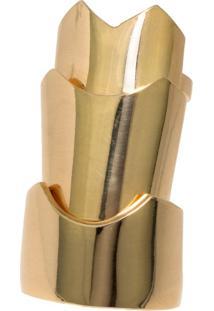 Anel Gladiadora Articulado Dourada By La Madame Co
