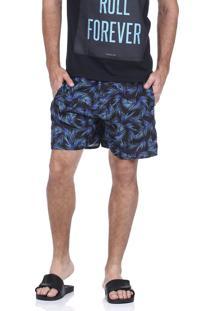 Short Praia King&Joe Neon Azul