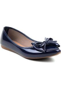 Sapatilha Tag Shoes Verniz 2 Laços Feminina - Feminino-Azul