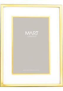 Porta Retrato Em Metal 10X15 Dourado