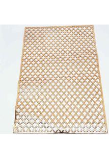 Jogo Americano Retangular Metalizado 47X30Cm Cobre, Dourado, Bronze Multicolorido - Tricae