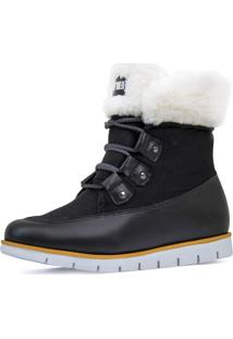 Bota Feminina Cozy Wooly Forro Thermal Warm Protection Ref.:21519 - Kanui