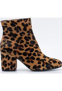 Bota Feminina Animal Print Satinato