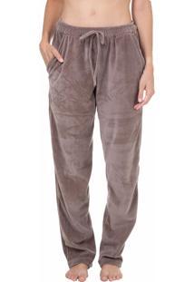 Calça Plush Homewear Marrom - 589.0719 Marcyn Lingerie Pijamas Marrom