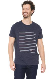 Camiseta Aramis Lines Azul-Marinho/Branca