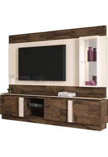 Estante Home Theater Para Tv Até 70 Pol. Vértice Deck/Off White - Hb Móveis