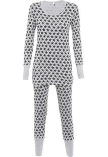 Pijama Feminino Supernova - Cinza