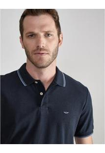 Camisa Polo Aviator Grécia Masculina - Masculino-Marinho