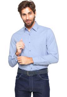 Camisa Victory Eagle Slim Fit Azul