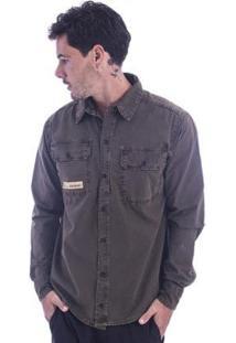 Camisa Long Island Army Masculina - Masculino