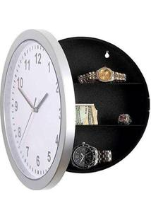 Relógio De Parede Com Cofre Segredo Camuflado Makeda