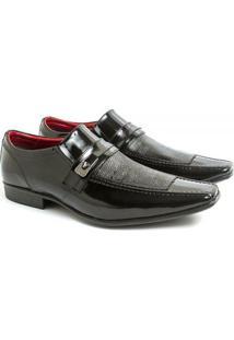 Sapato Social Couro Venetto Prince - Masculino-Preto