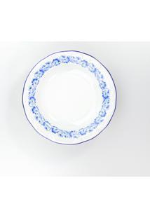 Conjunto De Pratos Fundos Porcelana Schmidt 06 Peças - Dec. Edite