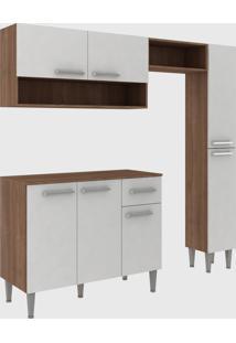 Cozinha Modulada C/ Tampo Madri 7 Portas Teka/Branco Fellicci Mã³Veis - Branco - Dafiti