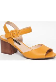 Sandália Em Couro - Amarela- Salto: 6,5Cmjorge Bischoff