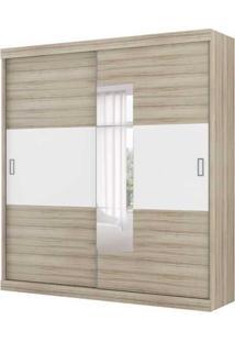 Guarda-Roupa Casal Cronos Com Espelho 2 Pt Anis Branco