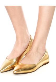 Sapatilha Dumond Metal Dourado