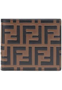 Fendi Carteira Com Logo 'Ff' De Couro - Preto