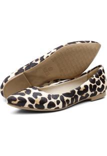 Sapatilha Casual Conforto Q&A 100 Leopardo