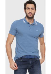 Camisa Polo Yachtsman Logo Azul