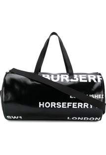 Burberry Mala Com Estampa Horseferry - Preto