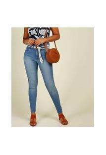 Calça Jeans Feminina Skinny Amarração Marisa
