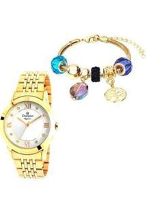 Relógio Feminino Champion Analógico Elegance - Feminino-Dourado