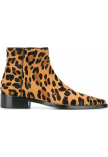 Dolce & Gabbana Ankle Boot Animal Print - Marrom