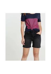 Bermuda Feminina Jeans Bolsos Marisa