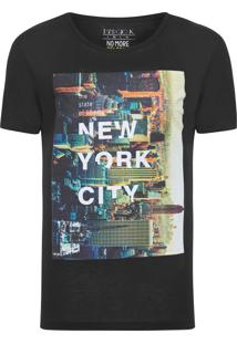 Camiseta Masculina New York - Preto