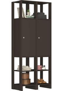 Guarda Roupa Closet 2 Peças 2 Portas C/
