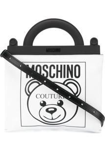 Moschino Bolsa Tote Com Logo 'Teddy' - Branco