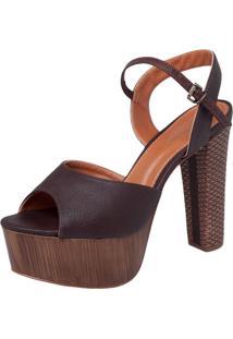 Sandália Dafiti Shoes Meia Pata Marrom