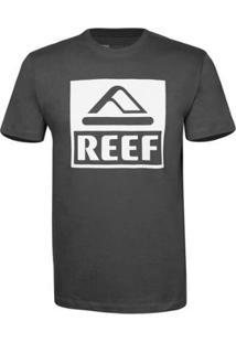 Camiseta Reef Masculina Básica Corporate - Masculino-Chumbo