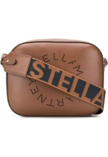 Stella Mccartney Bolsa Estruturada Stella Logo Mini - Marrom