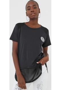 Camiseta Lança Perfume Tule Preta - Kanui