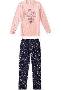 Pijama Longo Malha Soft Feminino