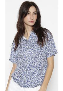 Camisa Floral - Azul & Brancacalvin Klein