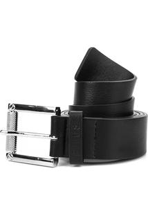 Cinto Couro Ellus Classic Belt Masculino - Masculino-Preto