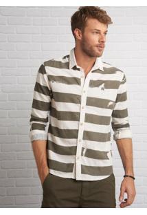 Camisa John John Cicero Listrado Masculina (Listrado, P)