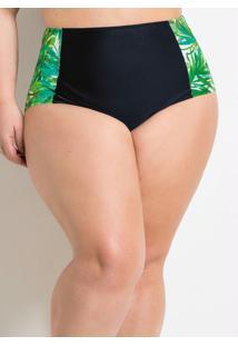 Calcinha Biquíni Plus Size Hot Pant Preto
