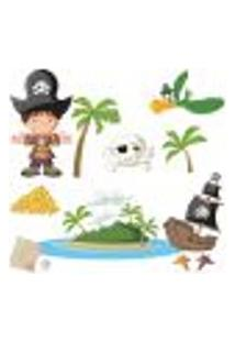 Adesivo De Parede Ilha Pirata