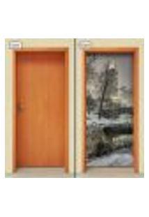 Adesivo Decorativo De Porta - Natureza - Paisagem - 1314Cnpt