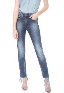 Calça Jeans Carmim Reta Alemanha Azul