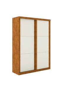Guarda Roupa Prático 2 Portas De Correr S/ Espelho Nature Off White Madeirado Robel Móveis