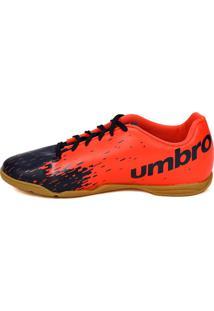 Tênis Futsal Umbro Azul Marinho/Coral