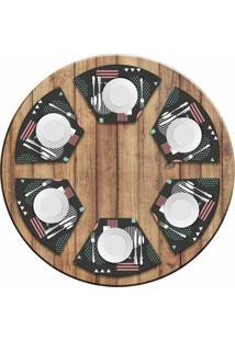 Jogo Americano Love Decor Para Mesa Redonda Wevans Abstract Circulos Kit Com 6 Pçs - Kanui