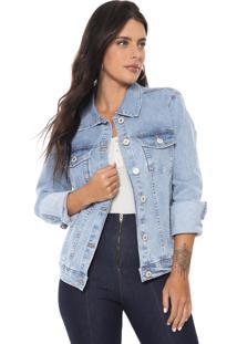 Jaqueta Jeans Lez A Lez Bolsos Azul