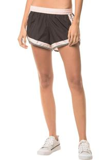 Shorts Athletic Ck Estampa - Preto - Pp